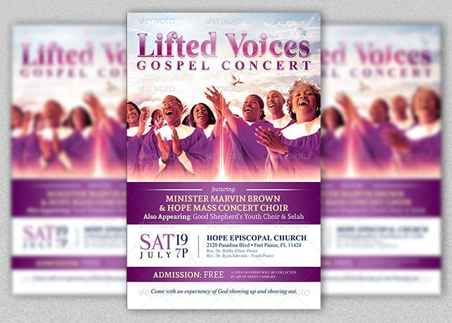 Modern Gospel Concert Church Flyer Template Gospel Concert Program Template Gospel