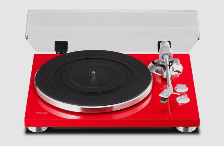 Teac TN-300 Turntable, Red