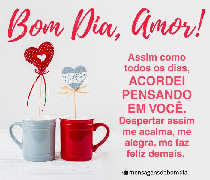 Bom Dia Amor Voce Me Da Paz Mensagem Bom Dia Amor Mensagens De