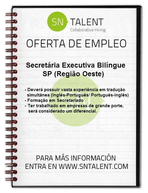 #Secretária #Executiva Bilíngue in #SP