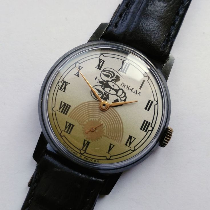 "Literally translated, this meansVictory. The name was approved personally by Stalin, recognizing that victory was not easy. All the watch factories - 1st Moscow Watch Factory, 2nd Moscow Factory, Chistopol, and Petrodvorets - began producing new models bearing the name ""Pobeda"". 