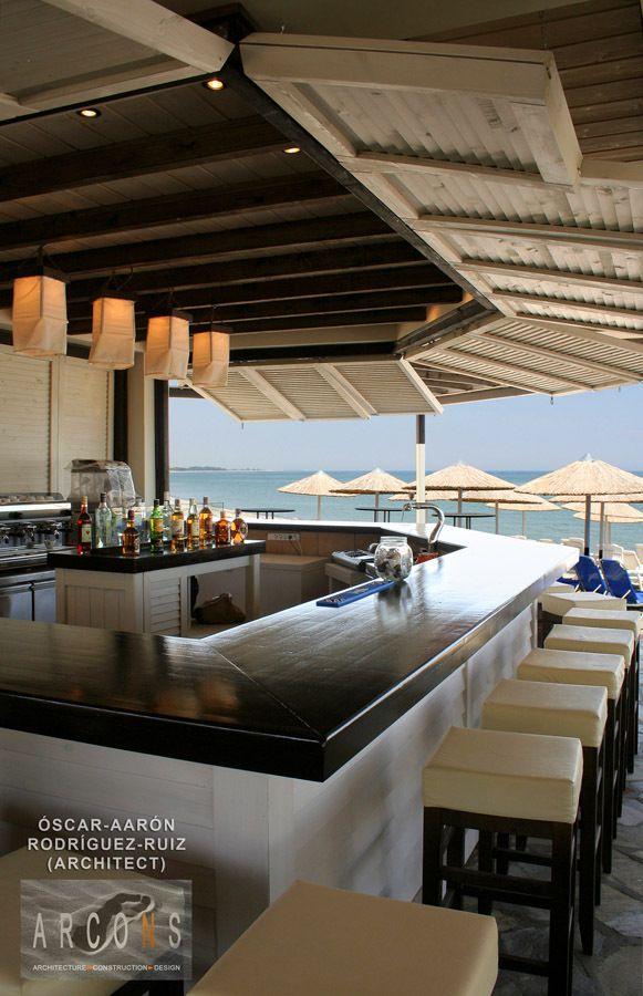 "The Beach Bar ""PSAROKOKALO"" at Gritsa Beach, Litochoro, North of Greece."