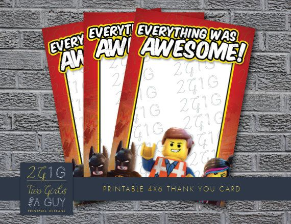 Lego Movie Invitation