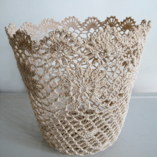 Crocheting Baskets : Crochet Basket - This is a wonderful feminine, lacey basket! - link ...