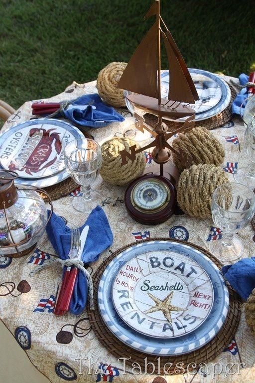 Tablescape♥ nautical  +