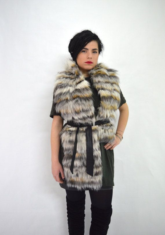 Real fox fur stole wrap fur collarfur scarf genuine fox by BeFur