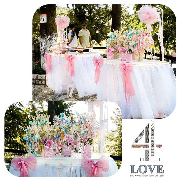 """Pink Girly"" #βάπτιση #4LOVEgr #ανθοστολισμός #μπομπονιέρες #lemonade_bar - Concept Stylist Μάνθα Μάντζιου & Floral Artist Ντίνος Μαβίδης"