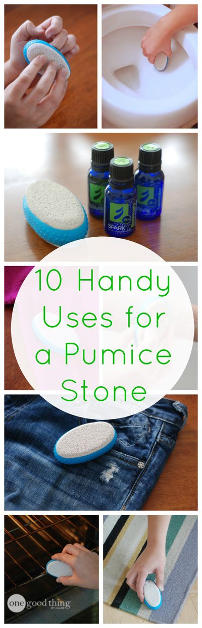 '10 Handy Household Uses for a Pumice Stone...!' (via One Good Thing by Jillee)