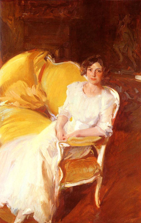 Joaquin Sorolla y Bastida (1863-1923) Clotidle sentada en el sofa Oil on canvas 1910 110 x 180 cm (3 7.31 x 5 10.87)