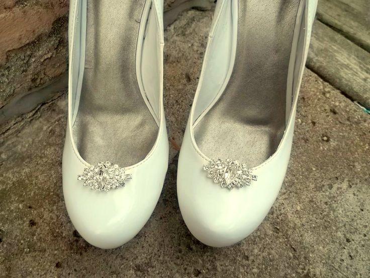 Wedding Rhinestone Shoe Clips - Bridal Shoe Clips, Rhinestone Shoe Clips, Crystal Clips for shoes, pumps Best Seller by ShoeClipsOnly on Etsy