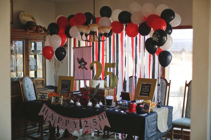1000 images about pirate 25th birthday party on pinterest for 25th birthday decoration
