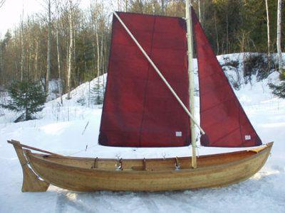 Swedish yole - Holzjolle mit Segel Thor Boot