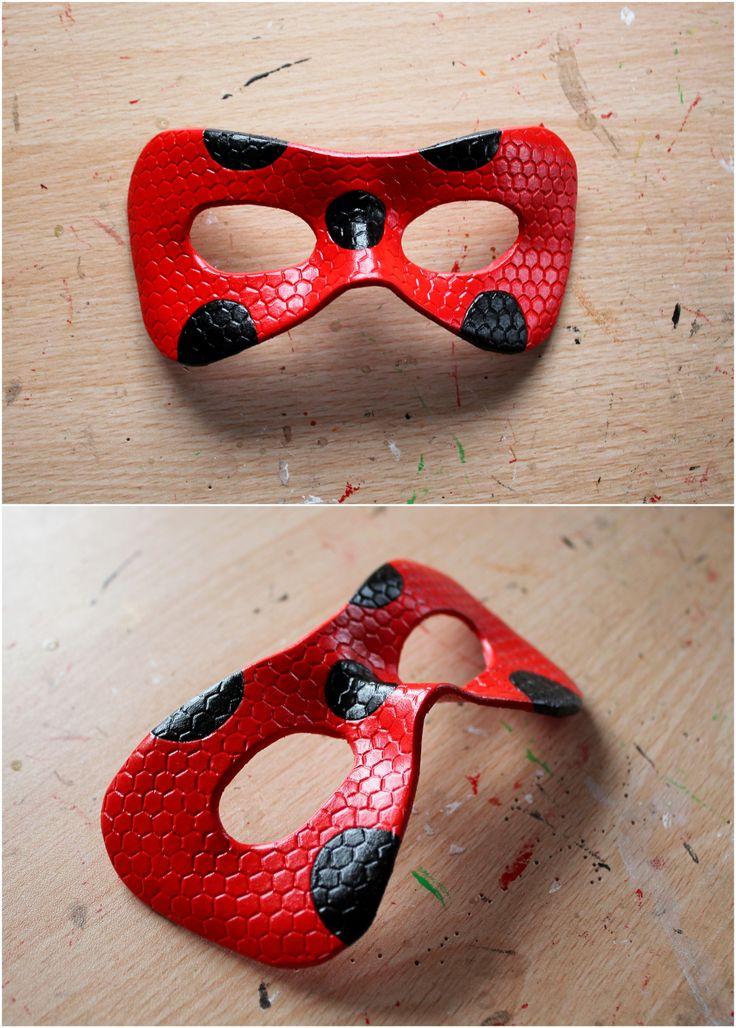 Custom order, for a Miraculous Ladybug leather mask :)