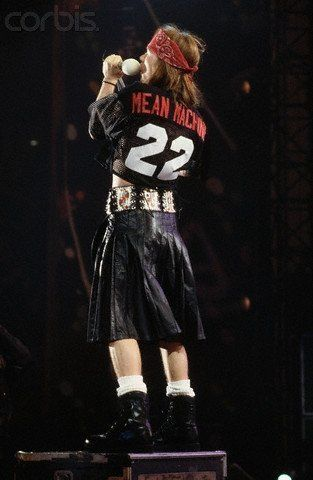 Axl Rose...awesome picture, anybody recognize what that jersey is from? Classic