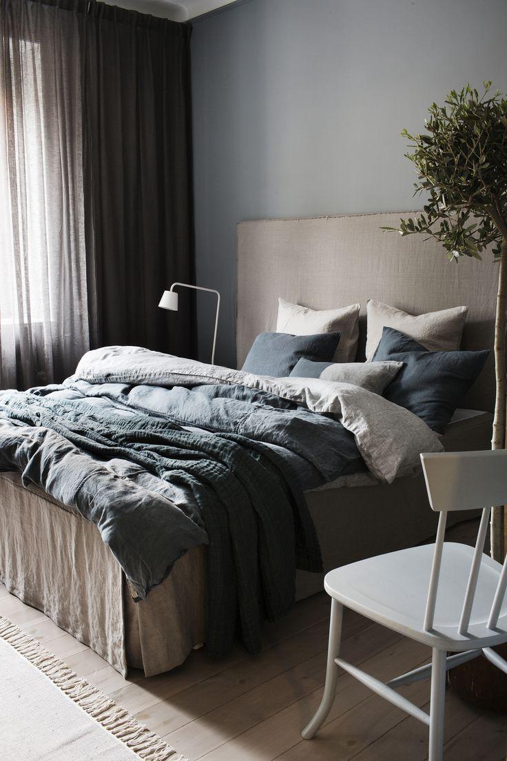 To sleep in linen is an extraordinary experience.   #Himla_ab #linen #bed linen #sunshine #Marble #Lyric