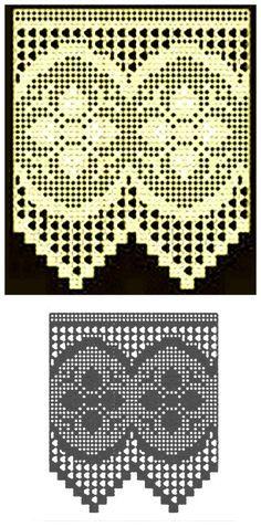 Barrados de crochê modernos.