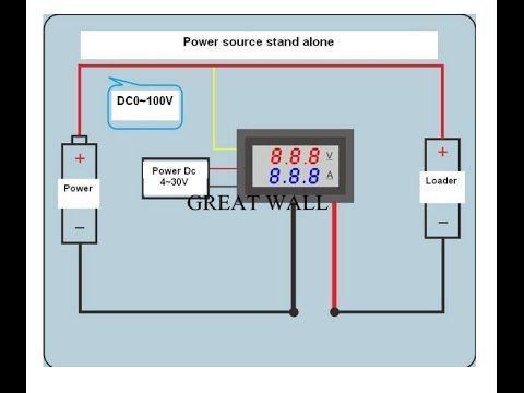 liga u00e7 u00e3o voltimetro amper u00edmetro digital dsn vc288 led dc