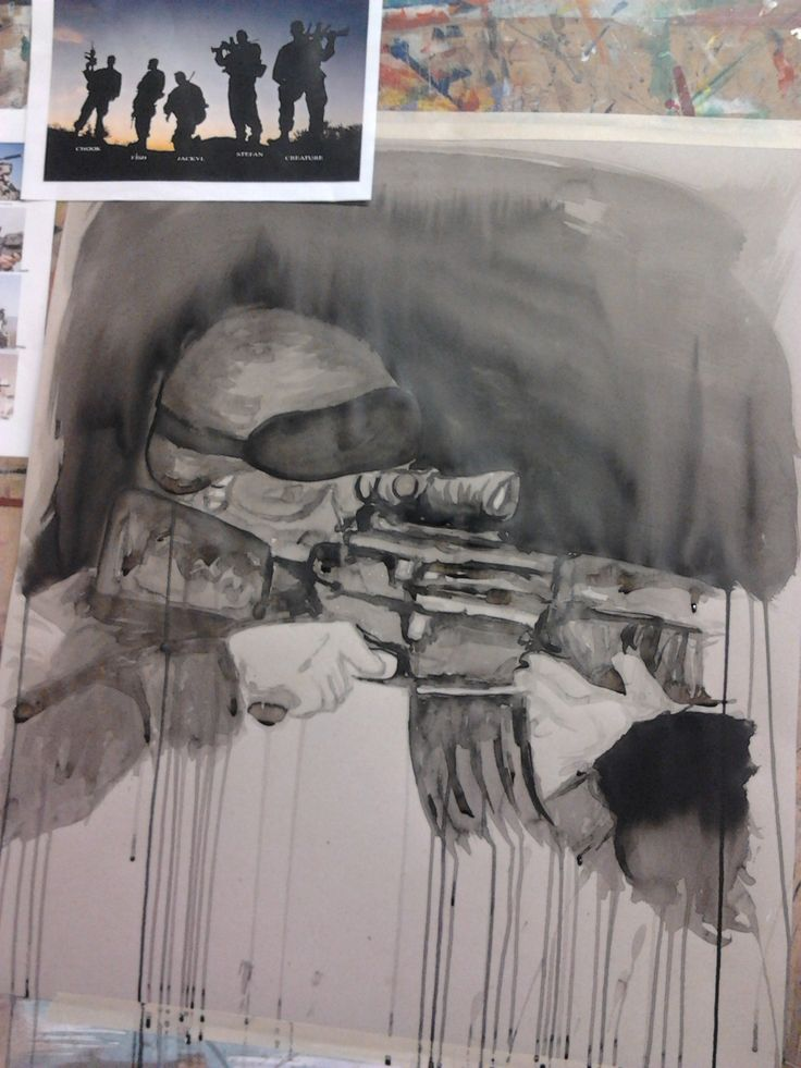 Indian ink - Soldier