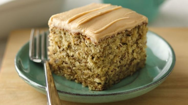 Banana and peanut butter come together in a homemade cake that feeds a crowd.
