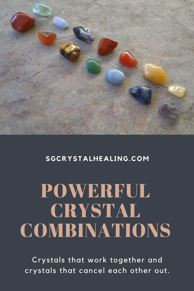 Powerful Crystal Combinations when wearing or carrying crystals as well as how to avoid bad combinations and crystals cancelling each other out.  #crystals #crystalhealing #combiningcrystals