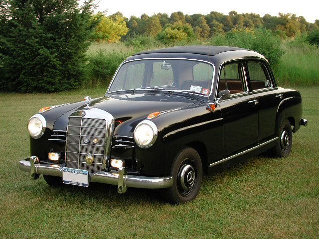 1959 Mercedes 190D! Our was a 57, but this is close.