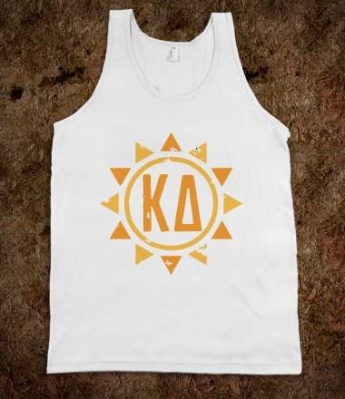 Kappa Delta Frat Tanks - Kappa Delta Sun Frat Tanks