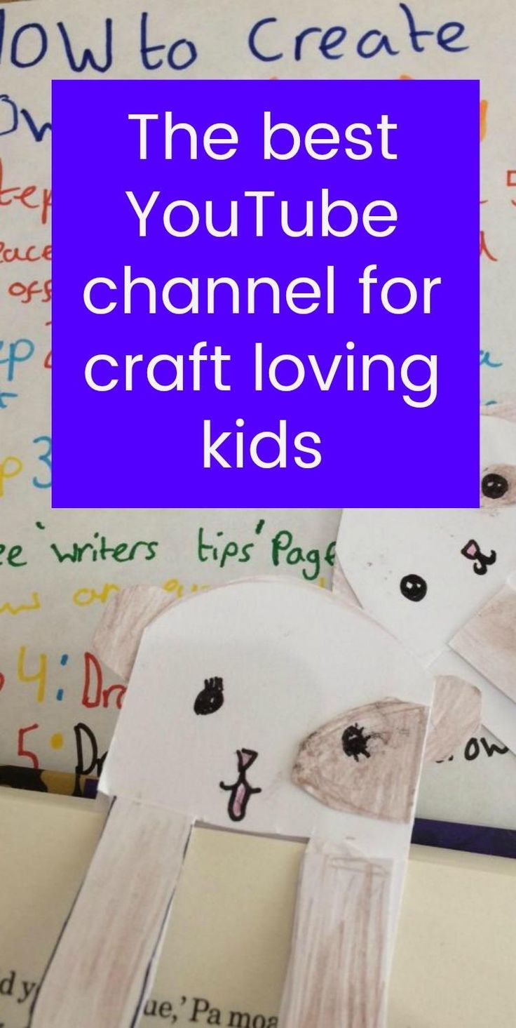 The best YouTube channel for craft loving kids. If your kids love crafts come on over and find ou the very best YOuTUve channel for craft kids. The best kids crafts on YouTube doable, interesting, simple, fun and inspired