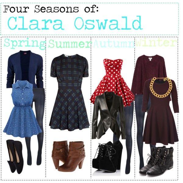 """Four Seasons of: Clara Oswald"" by fabfandomsfash on Polyvore"