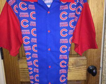 """Chicago Cubs """"retro"""" Bowling Shirt"""