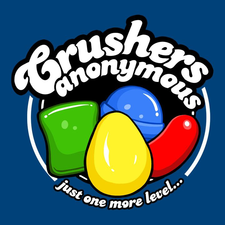 """This funny Candy Crush t-shirt is perfect for those who can't stop crushing. You know who you are. You see color bombs in your sleep, you always need just """"one more level."""" You have a serious problem."""