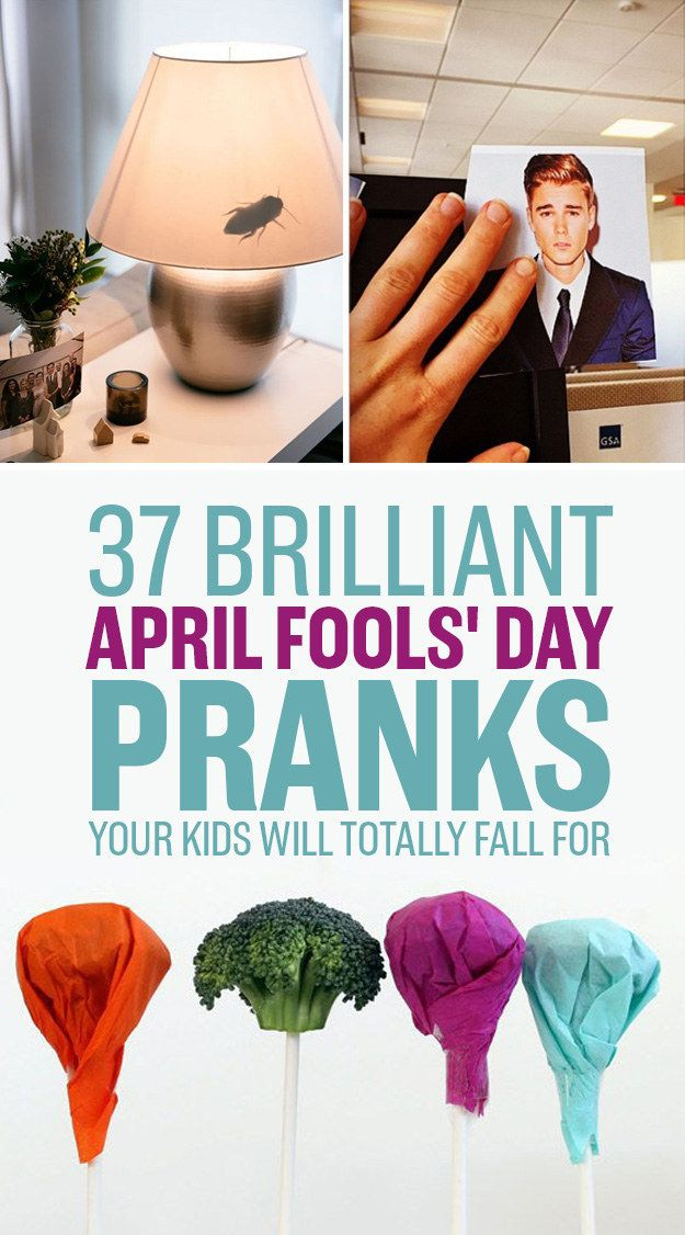 37 Brilliant April Fools' Day Pranks Your Kids Will Totally Fall For