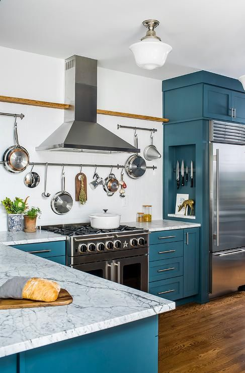 The 25+ Best Ideas About Blue Kitchen Cabinets On Pinterest | Blue