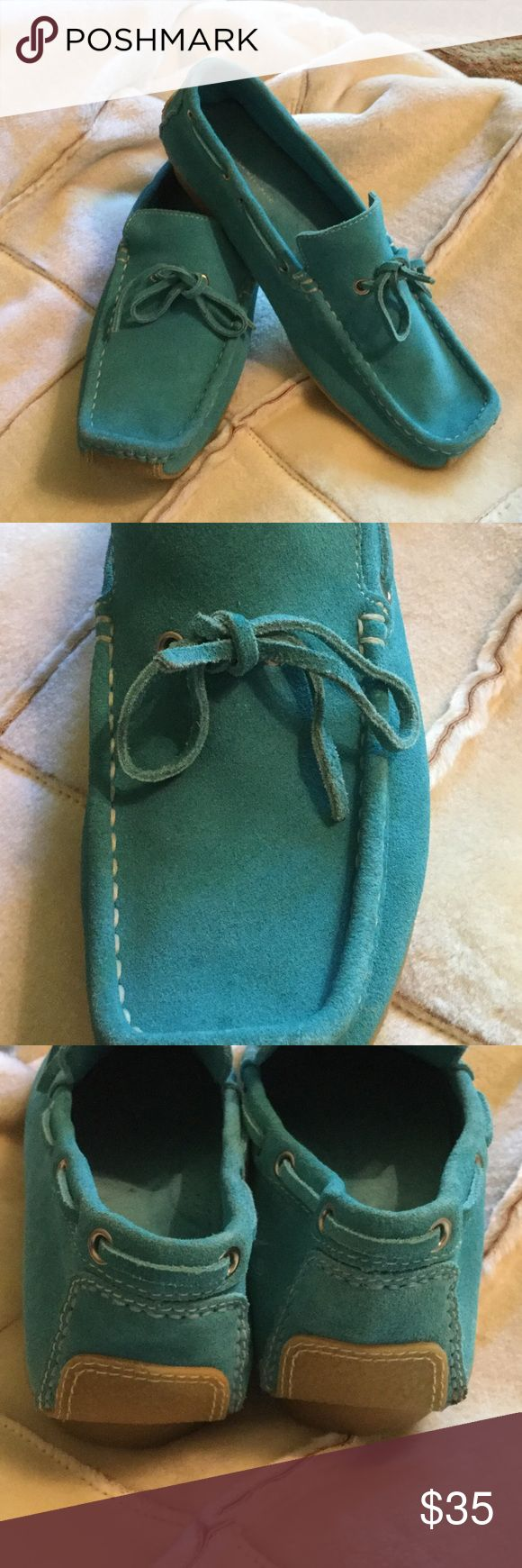 Banana Republic Suede Slip-on Loafers (NEW) Banana Republic Suede Turquoise Slip-ons Loafers (NEW) Banana Republic Shoes Flats & Loafers