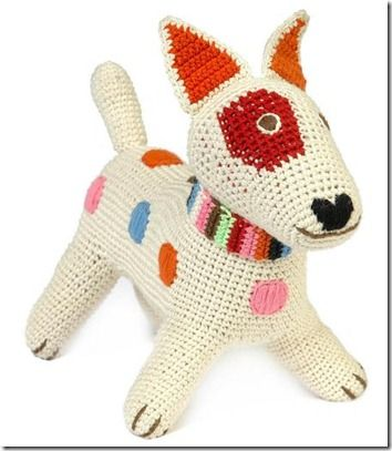 Doudou au crochet Fox Terrier ♥