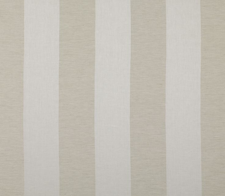 Aquarelle Stripe 6156 -Ecru : This simple and contemporary large-scale stripe has a soft finish making it ideal for drapery.Marvic Textiles