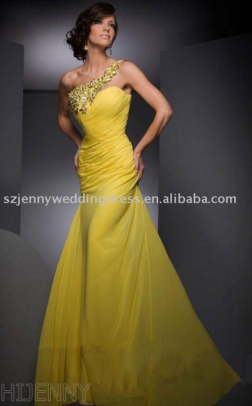 Cool yellow wedding dress