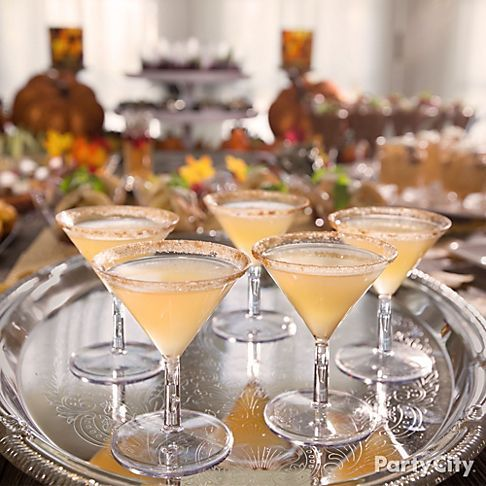 43 best images about thanksgiving food dessert ideas on for Mini martini glass dessert recipes