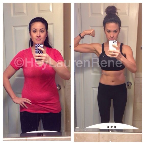 Advocare.  One year (two 24-day challenges) later.  Obviously did cardio and weight lifting, ate clean and worked hard.