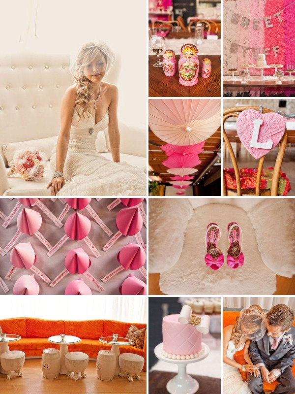LOTS of DIY and wedding decor details in this #pink #Russian #DIY #vintage quirky #California weddings via SMP!