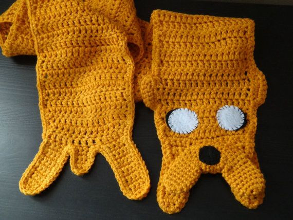 Adventure Time Inspired Jake the dog crochet scarf available