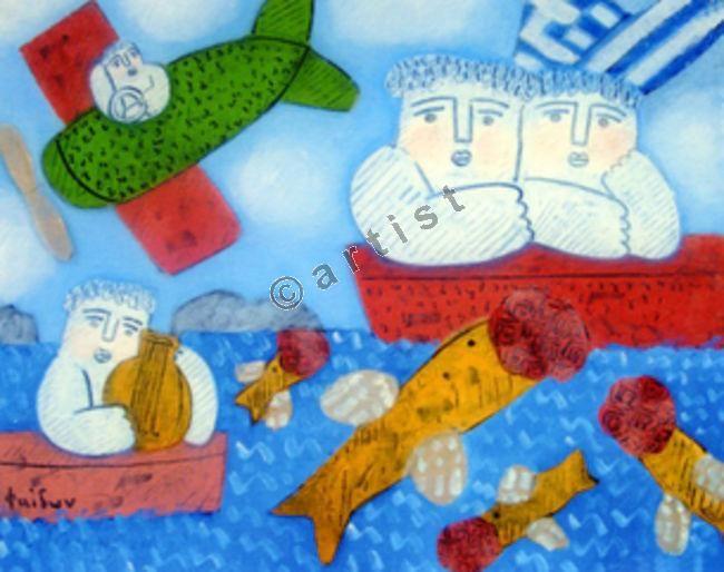 Φαίδων Πατρικαλάκις, Χωρίς τίτλο, 2009, λάδι σε μουσαμά, 50 x 60 εκ.
