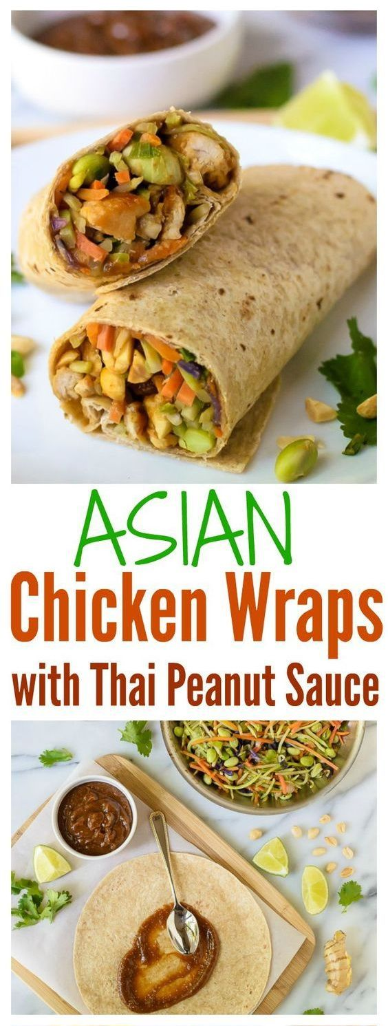 Asian Chicken Wraps with Thai Peanut Sauce Recipe | Grace Food #dinner #dinnerre…