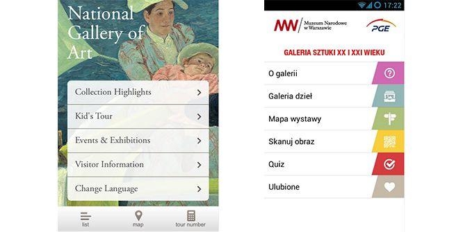 Muzeum Narodowe w Warszawie vs. National Gallery of Art – porównanie aplikacji mobilnychGrafika