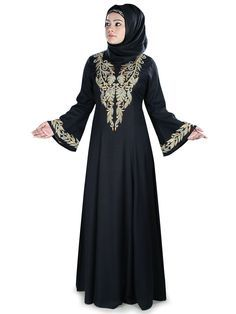 Muslim Design Party Wear Hifza Rayon Abaya | MyBatua.com Style No : AY-417 Price : $40.00 Available Sizes XS to 7XL