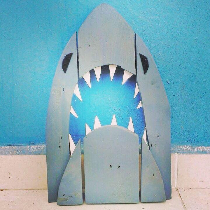 Shark wood art diy