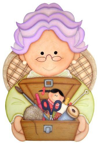 abuela bordando caricatura - Buscar con Google