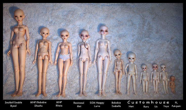 BJD comparison | Dolls | Pinterest | Bjd and Photos