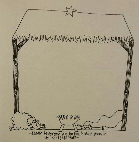 Tekenboek: kerststal