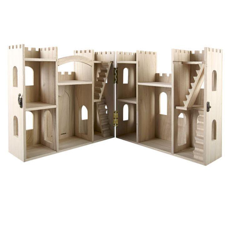 ArtMinds™ Wood Castle Dollhouse. Let the kids paint!!! $24.99