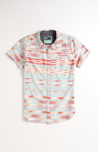 Modern Amusement Delonga Printed Short Sleeve Woven Shirt